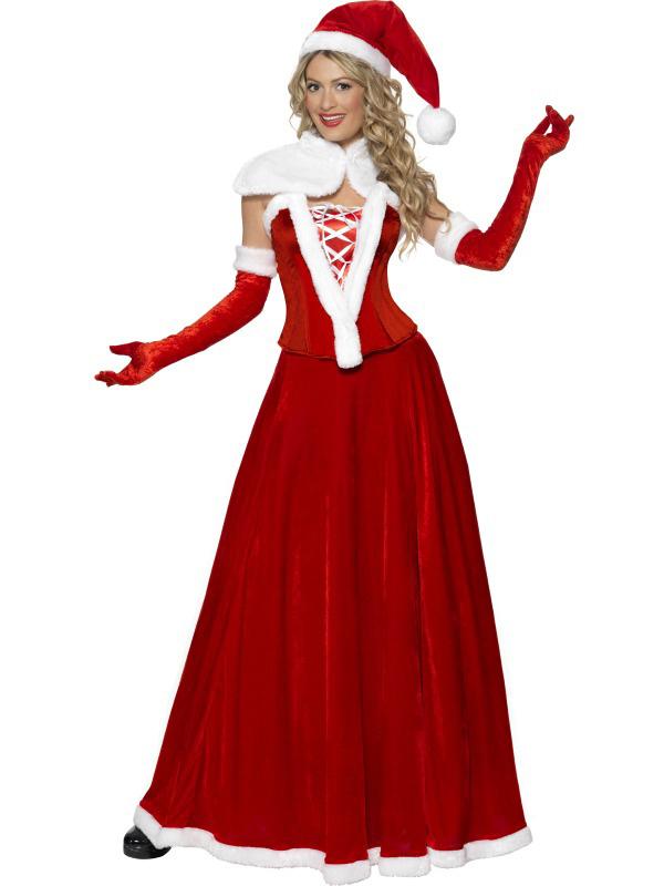 Déguisement Mère Noël luxe robe longue femme – Déguisements