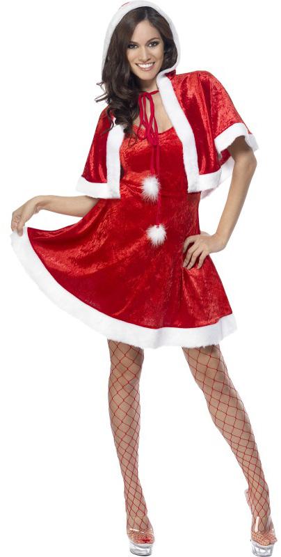 Déguisement mère Noël sexy à capuche femme – Déguisements cadeaux