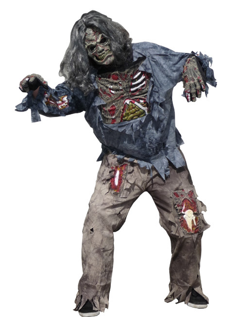 Zombie Chevalier Costume Pour Homme Zombie Costume Hommes Costume Halloween Taille S-XXL